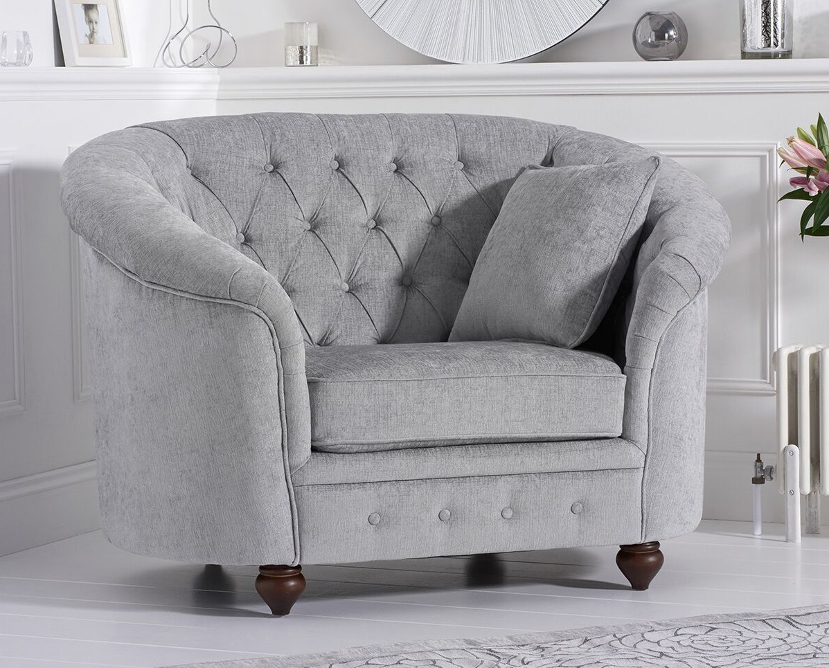 Living Room Armchairs Casey Plush Chesterfield Armchair