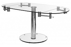 Oval Extending Glass Dining Table