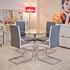 Brescia Dining Chairs Grey