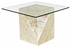 Athens Macton Stone Lamp Table