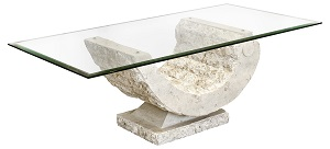Coral Sea Glass Coffee Table