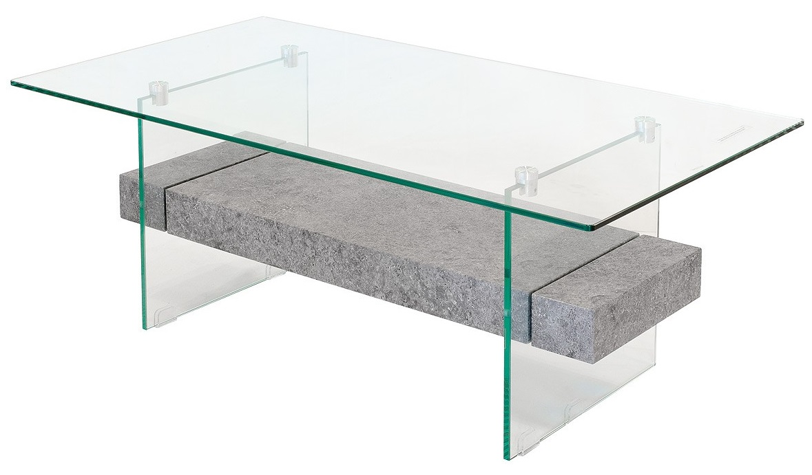 Glass Stone Coffee Table Glass Coffee Table