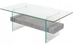 Glass Stone Coffee Table