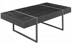 Black Oak Wood Effect Coffee Table