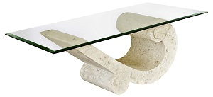 Sea Crest Glass Coffee Table