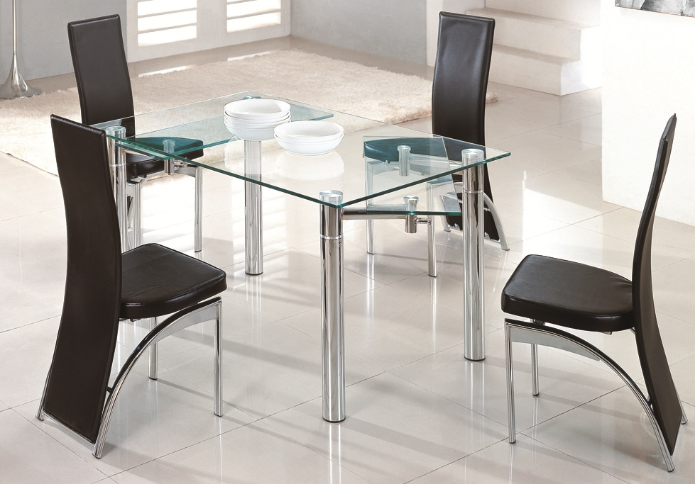 Glass dining table best dining table ideas for Dining room glass table