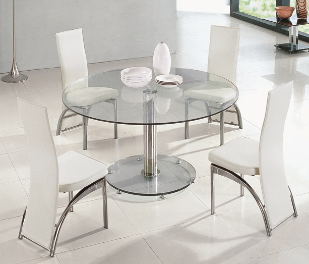 Dining table glass dining tables and chairs for Glass dining table and chairs
