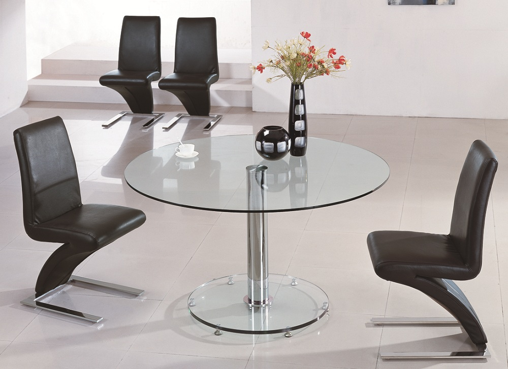 Large round glass dining table best dining table ideas for Round dining table and chairs