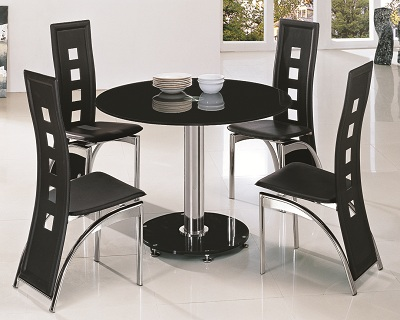 mini round glass dining table 4 chairs glass dining