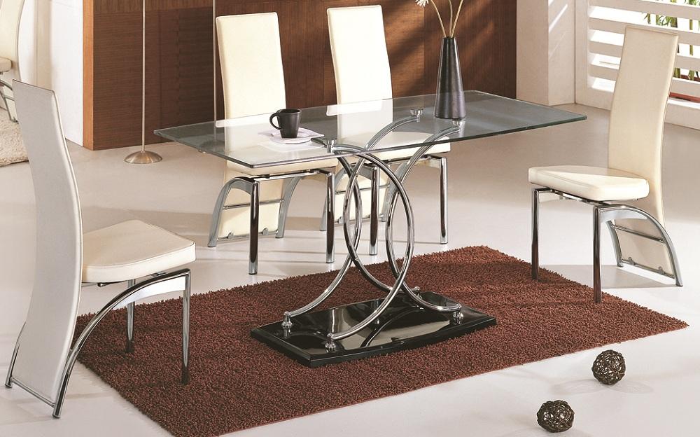 THE DINING ROOM MEZA ZA CHAKULA ZA KIOO : naples glass dining table 501 chairs from rainbow-tz.blogspot.com size 1000 x 624 jpeg 268kB