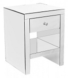 Mirrored Single Drawer Bedside Table