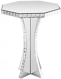 Mirrored Octagonal Side Table