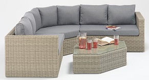 Rural Angle Corner Sofa Set