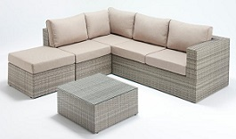 Rustic Small Corner Sofa Set Left
