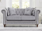 Montrose Chesterfield Fabric 2 Seater Sofa Grey