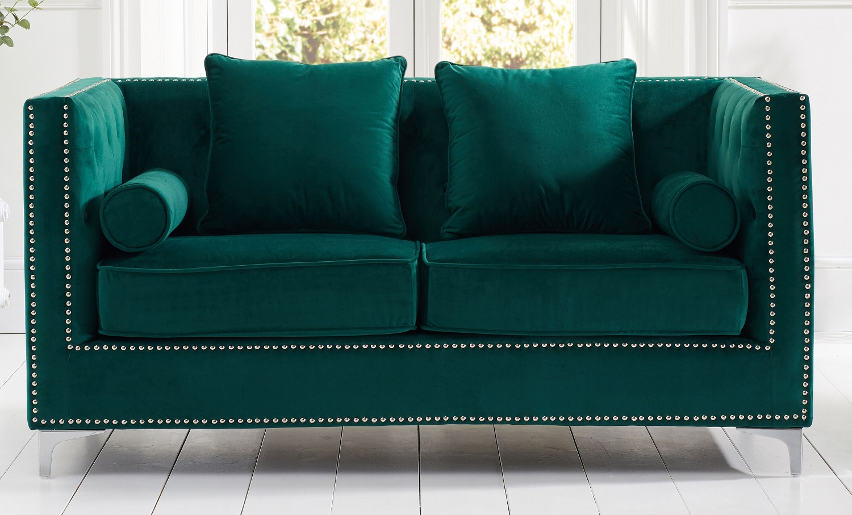 Sofas New England Velvet 2 Seater Sofa