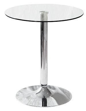 Clear Glass Bistro Table