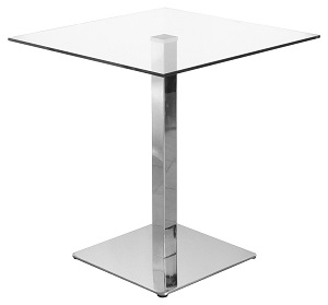 Clear Glass Square Dining Table