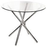 Criss Cross Round Glass Dining Table
