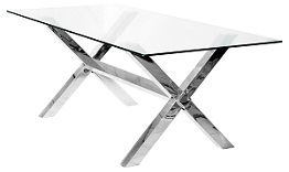 Crossly Glass Dining Table