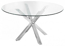 Crossley Round Glass Dining Table