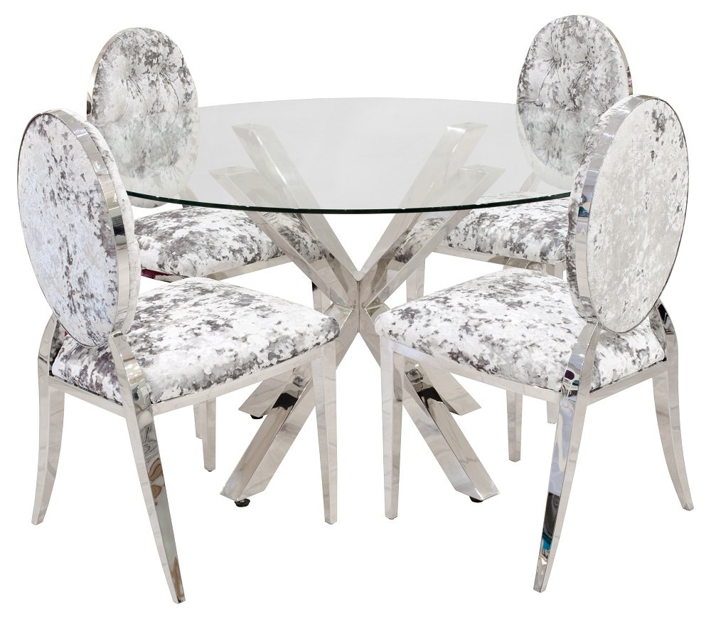 Crossly Glass Dining Tables Round Glass Dining Table