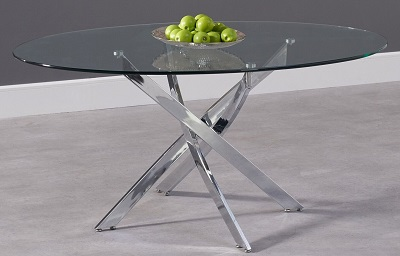 Daytona Oval Glass Dining Table