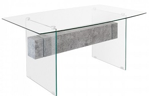 Glass Stone Dining Table