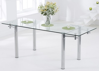 Grenada Extending Glass Dining Table
