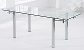 Grenada Extending Glass Dining Table Extended
