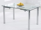 Grenada Extending Glass Dining Table Closed