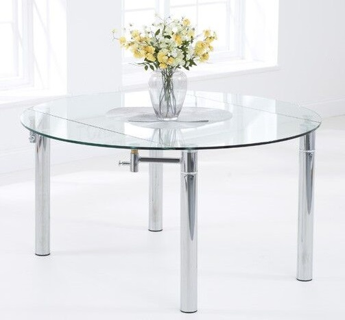 Millennium Glass Extending Dining Tables Round Glass