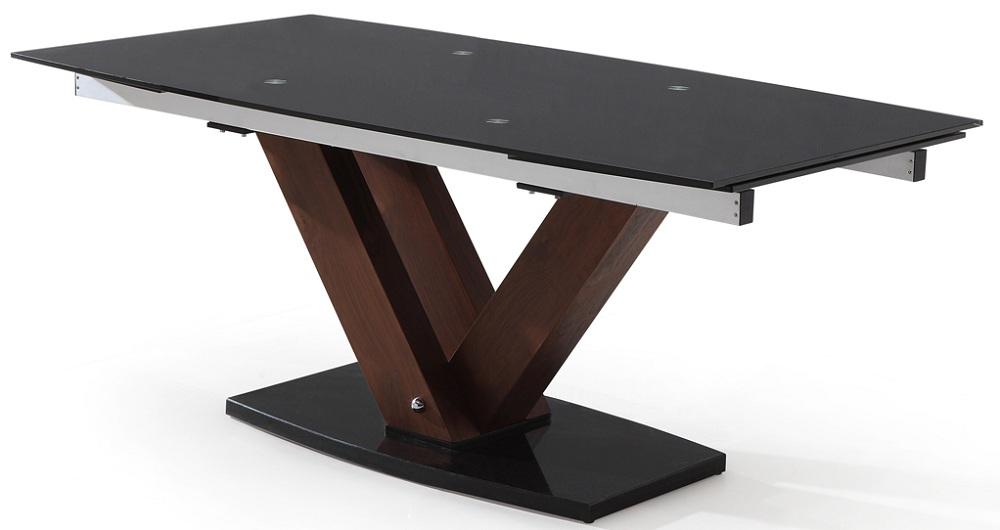 1000 x : nova walnut extending glass dining table closed from www.picstopin.com size 1000 x 530 jpeg 89kB