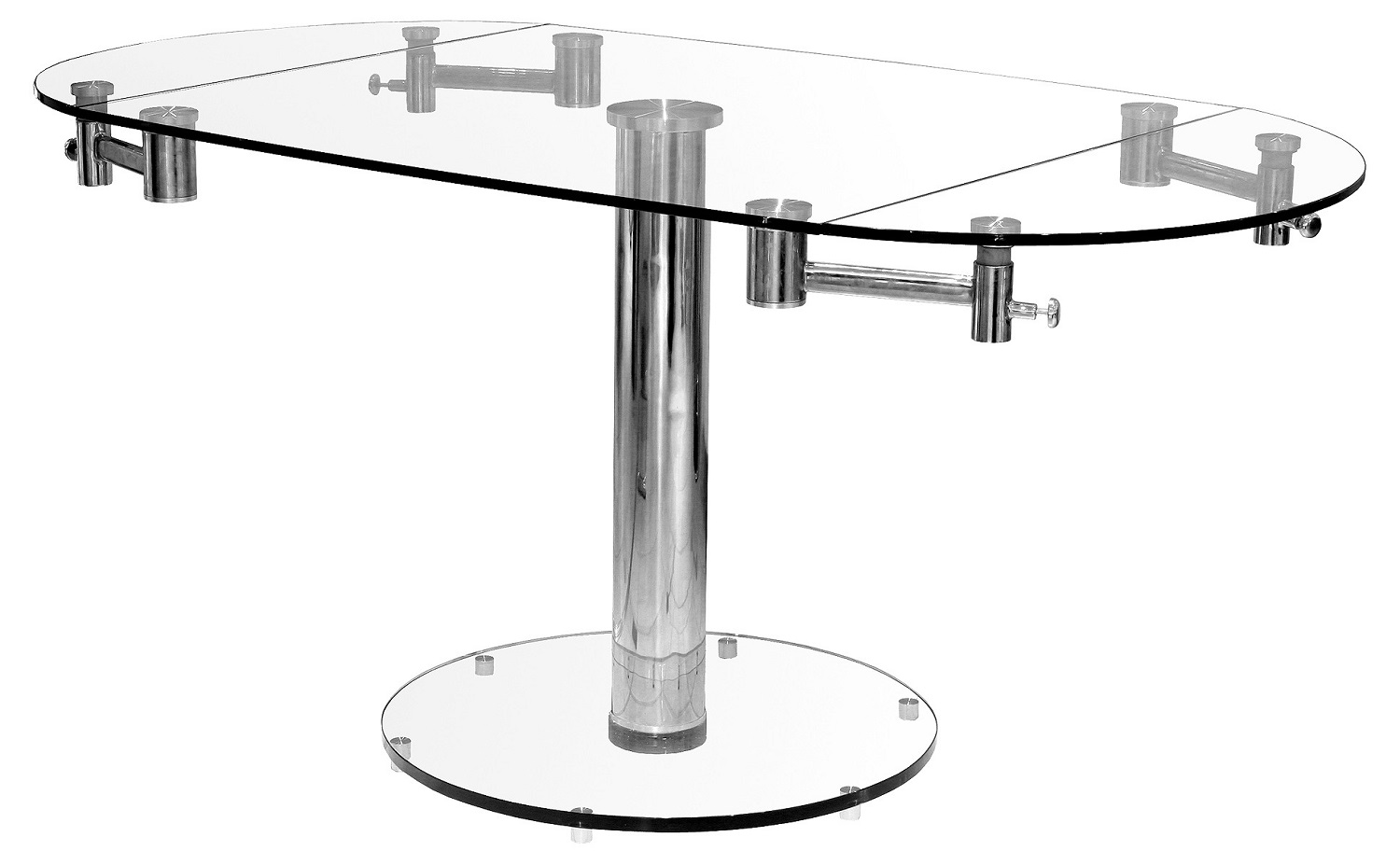 Oval Extending Glass Dining Table Oval Extending Dining