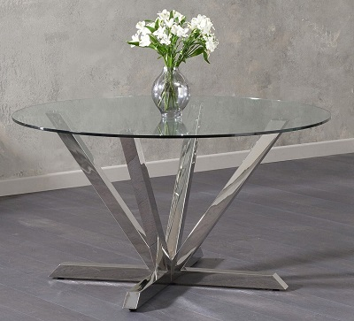 Rene Round Glass Dining Table