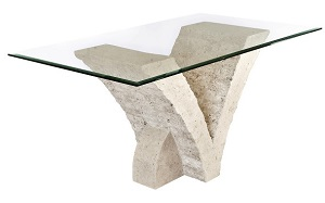 Seagull Macton Stone Glass Dining Table